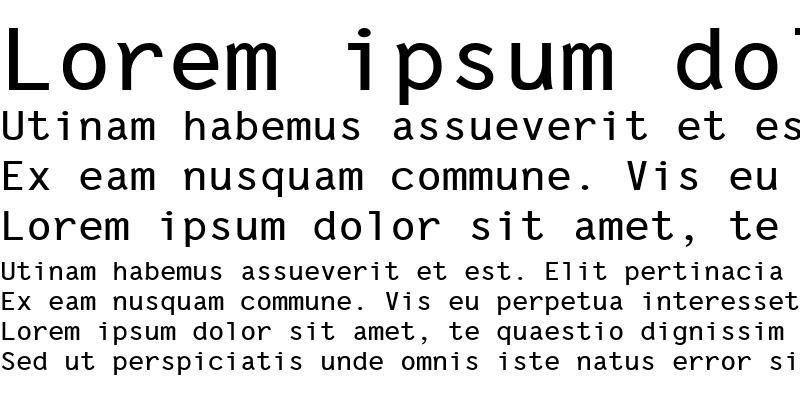 Sample of Letter Gothic Line
