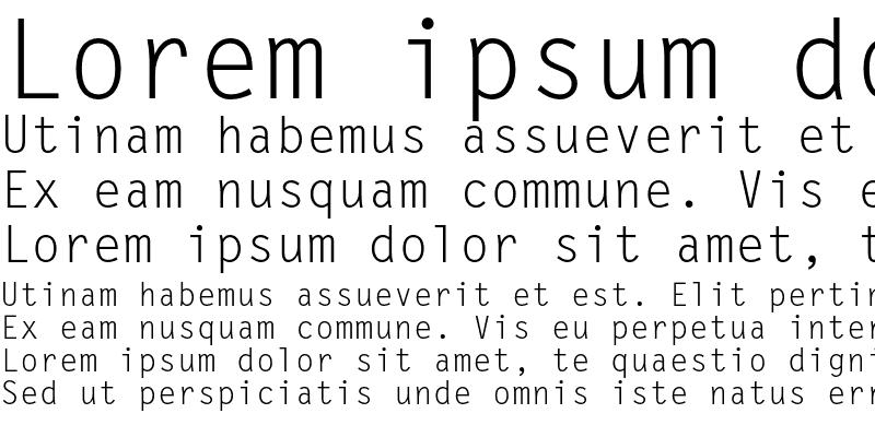 Sample of Letter Gothic MT Std