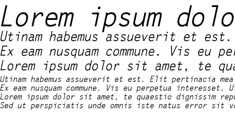 Sample of Letter Gothic Oblique