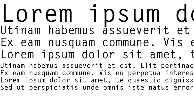 Sample of Letter GothicPS Bold