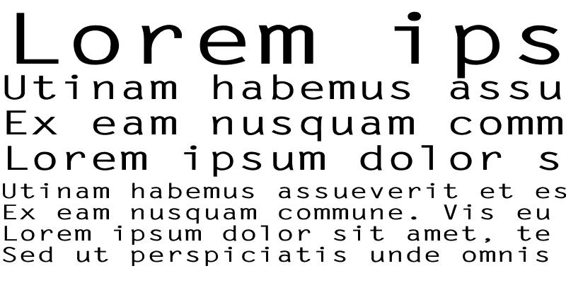 Sample of LetterGothic-Bold Ex