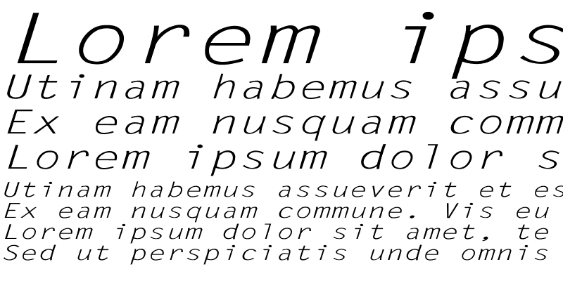 Sample of LetterGothic-Italic Ex