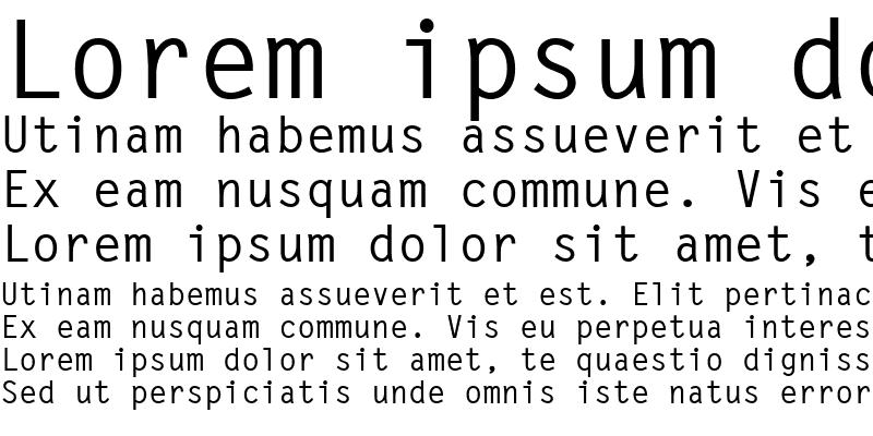 Sample of LetterGothic LT Bold
