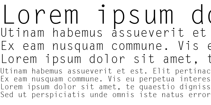 Sample of LetterGothic LT