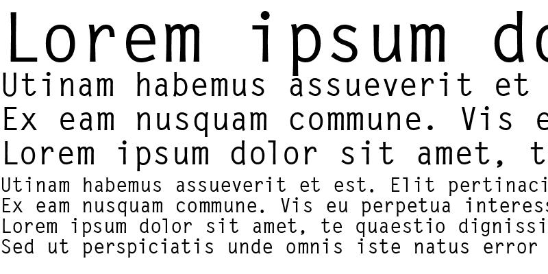 Sample of LetterGothic Medium
