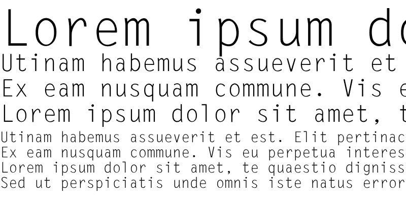 Sample of LetterGothic-Normal