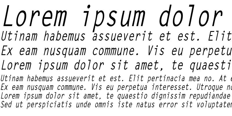 Sample of LetterGothicCond Bold Italic