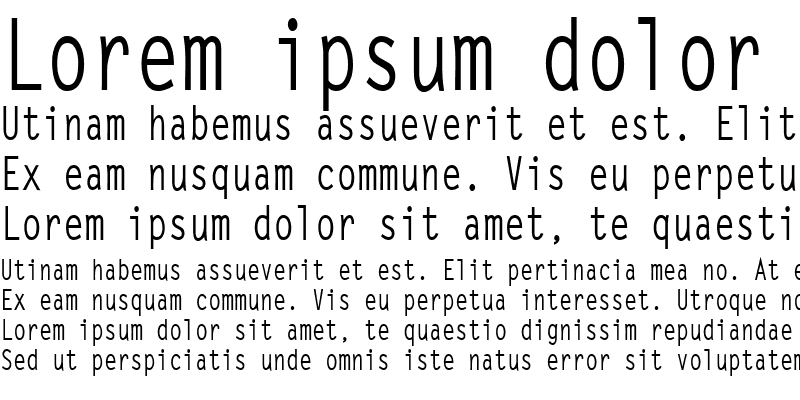Sample of LetterGothicCond Bold