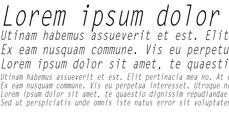 Sample of LetterGothicCond Italic