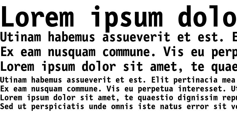 Sample of LetterGothicMono Bold