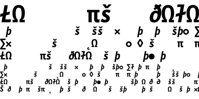 Sample of LetterGothicMono Exp