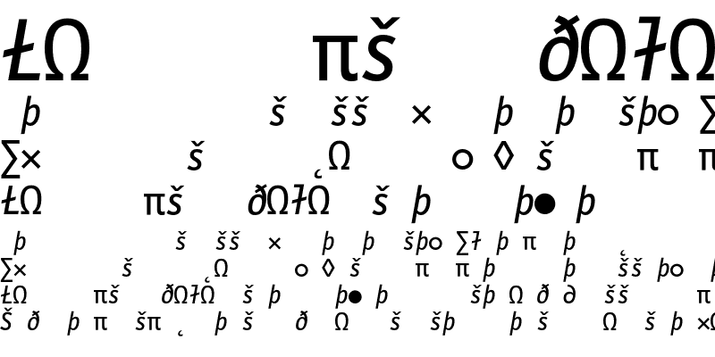 Sample of LetterGothicMono Expert Italic