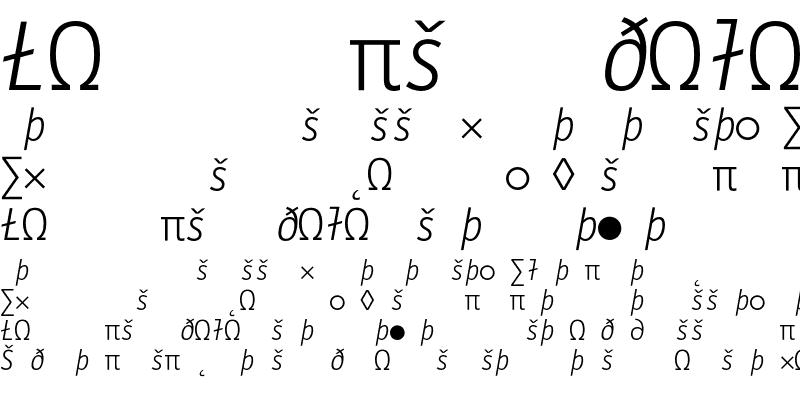 Sample of LetterGothicMono LigExp