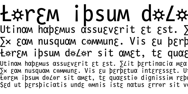 Sample of LetterGothicSlang