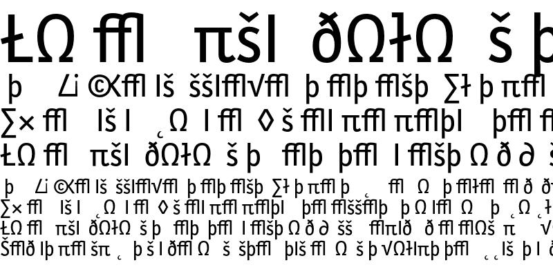 Sample of LetterGothicSlangT Exp