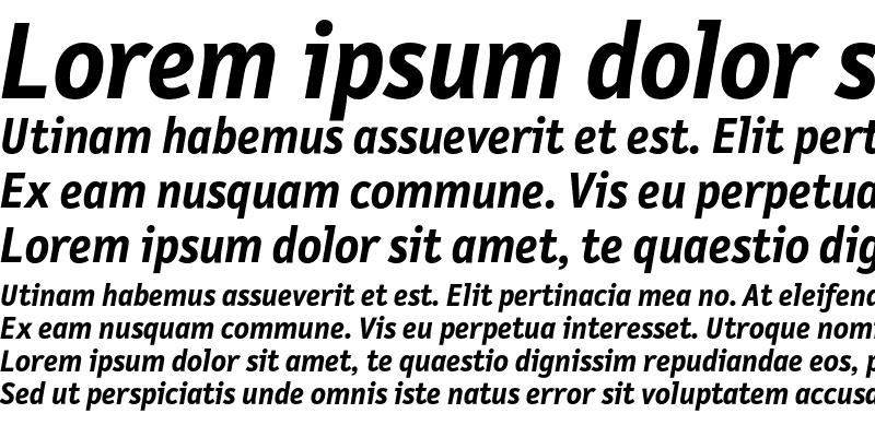 Sample of LetterGothicText Bold Italic
