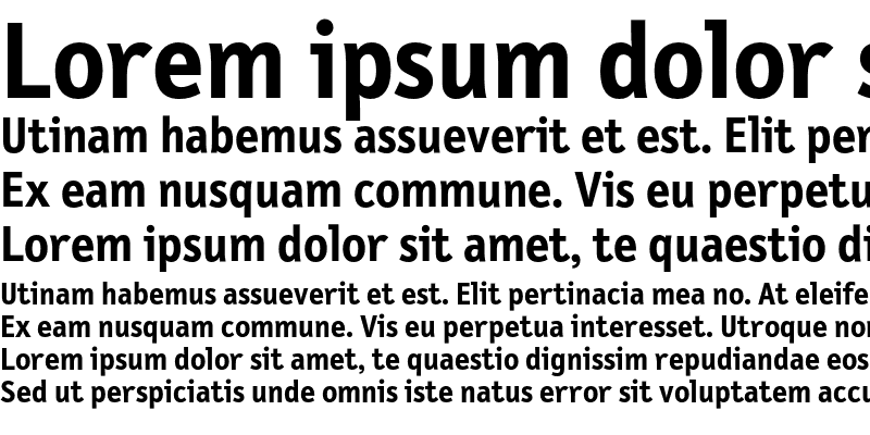 Sample of LetterGothicText Bold