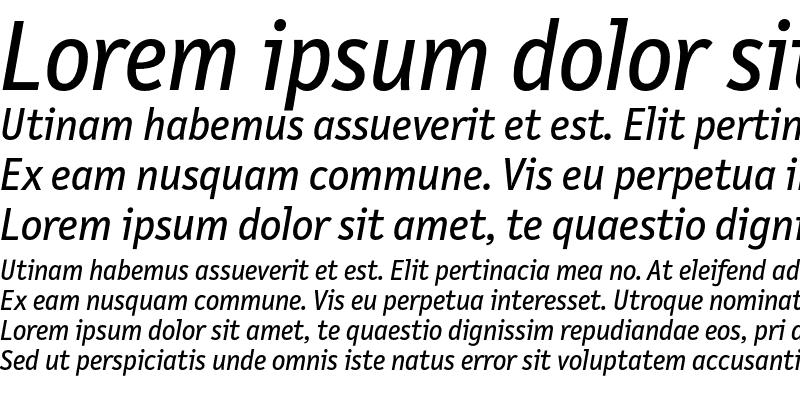 Sample of LetterGothicText Italic