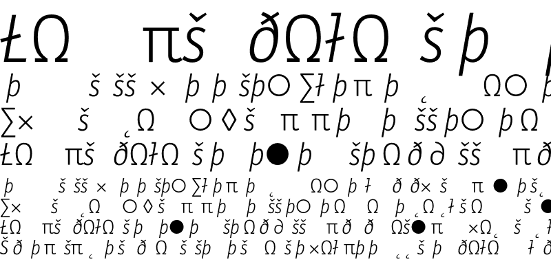 Sample of LetterGothicText LigExp