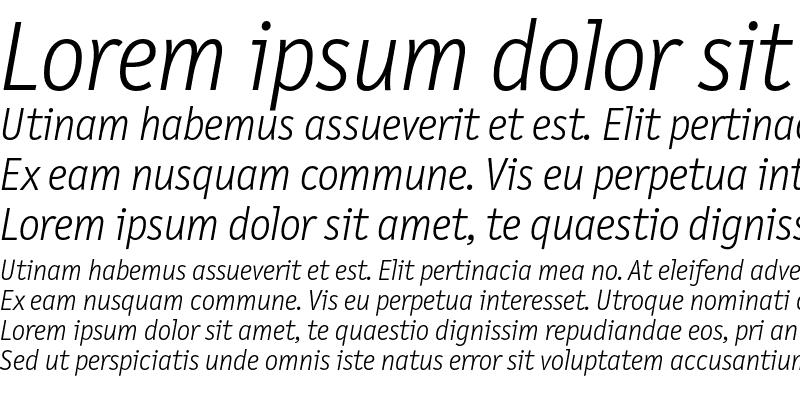 Sample of LetterGothicText Light Italic
