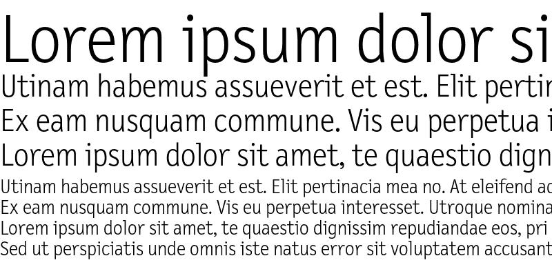 Sample of LetterGothicText Light