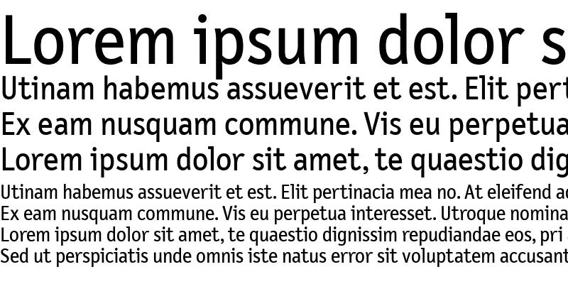 Sample of LetterGothicText Medium