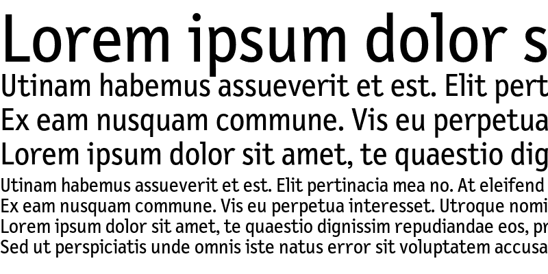 Sample of LetterGothicText