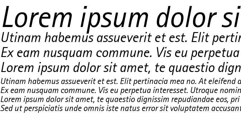 Sample of Libre Sans Serif SSi Italic