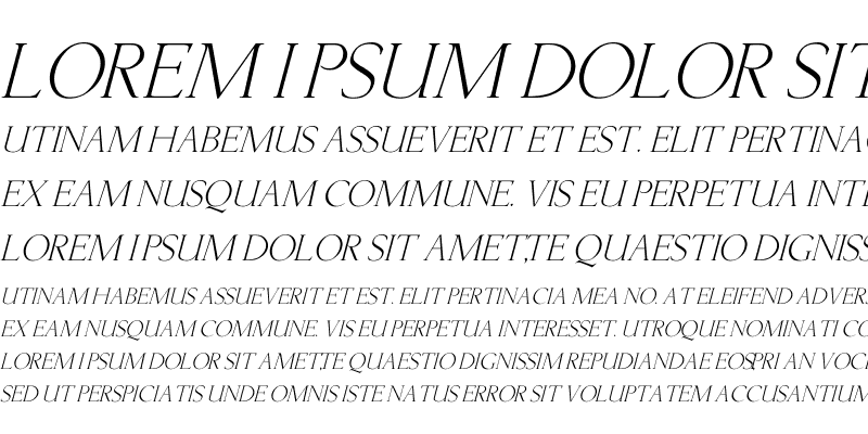 Sample of Lichtner Italic Italic