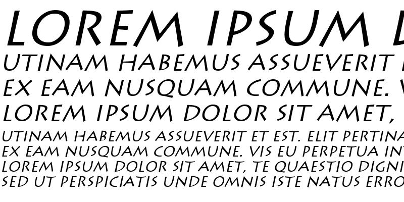 Sample of Liddie Italic
