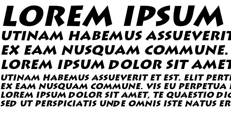 Sample of LiddieBlack Italic