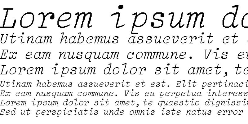 Sample of LightItalic-Lig