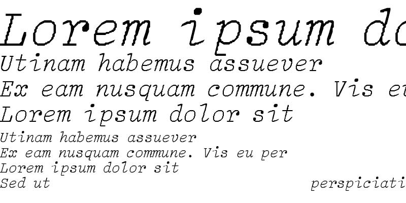 Sample of LightItalic-Light-Italic