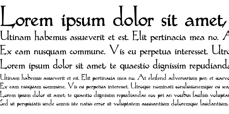 Sample of Lilith Bold