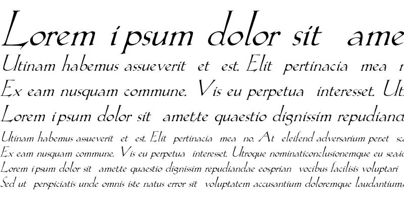 Sample of Lilith-Italic Regular