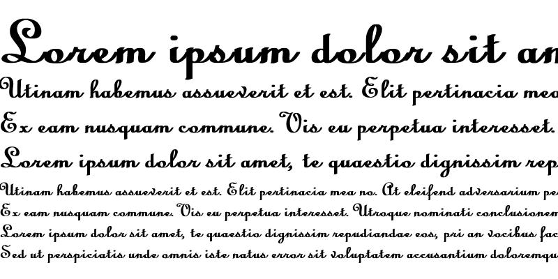 Sample of Linoscript Bold