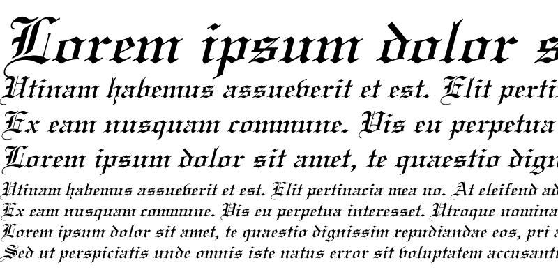 Sample of Linotext Italic
