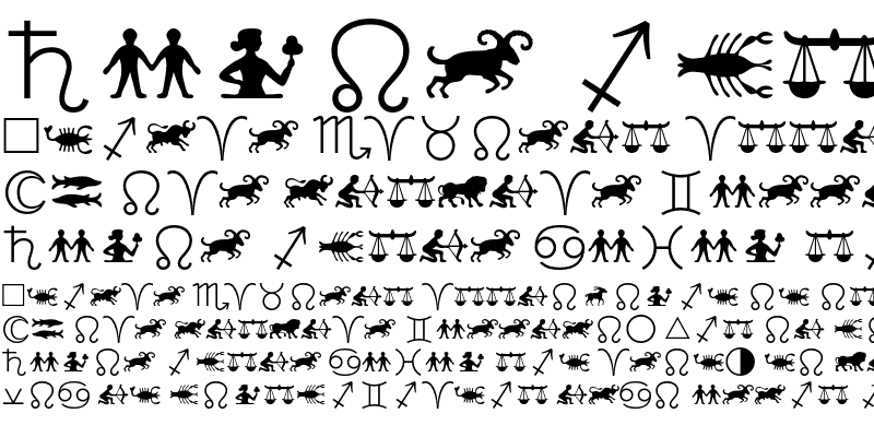 Sample of Linotype Astrology Pi One