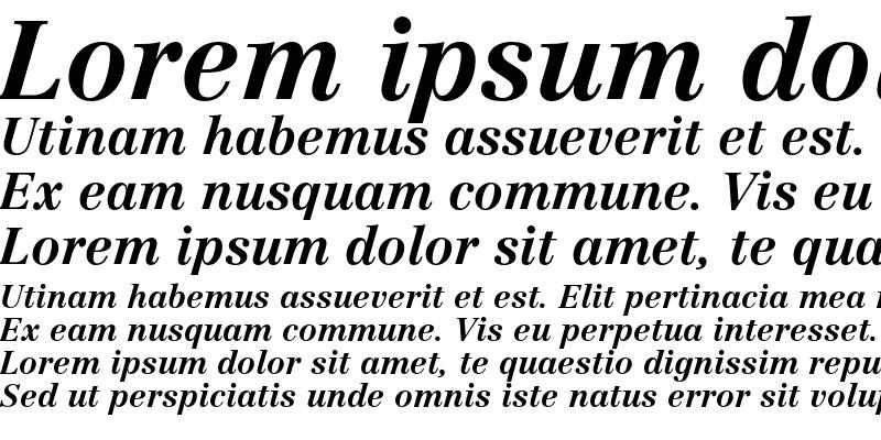 Sample of Linotype Centennial 76 Bold Italic