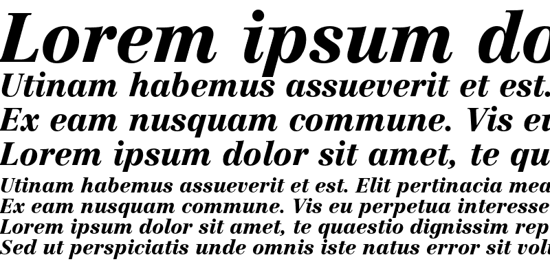 Sample of Linotype Centennial 96 Black Italic