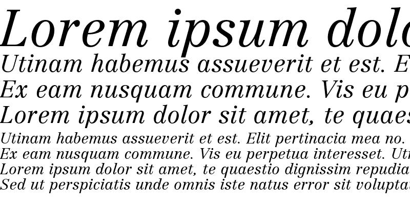 Sample of Linotype Centennial LT 46 Light