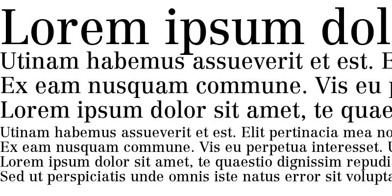 Sample of Linotype Centennial LT 55