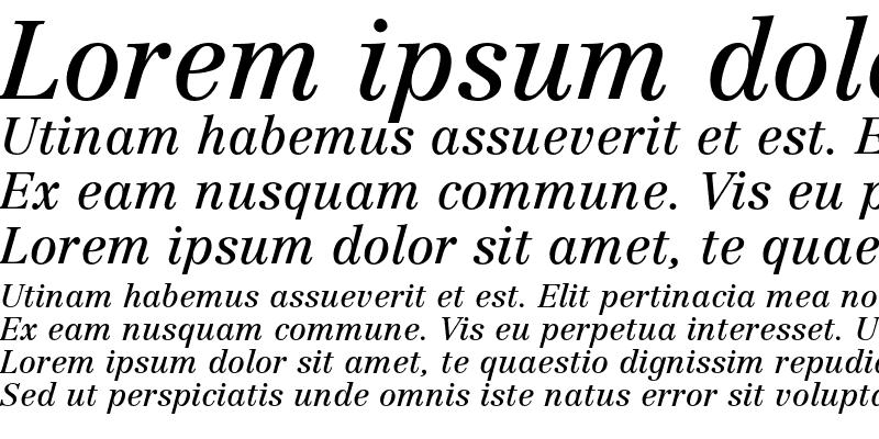 Sample of Linotype Centennial LT 56 Italic