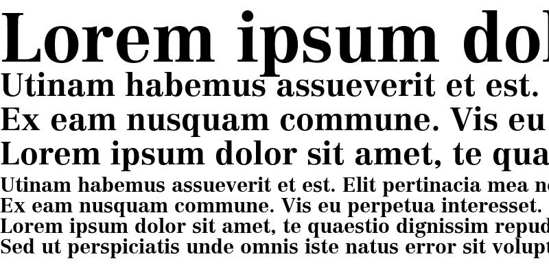 Sample of Linotype Centennial LT 75 Bold