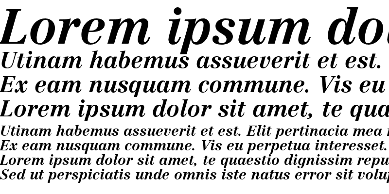 Sample of Linotype Centennial LT 76 Bold Italic