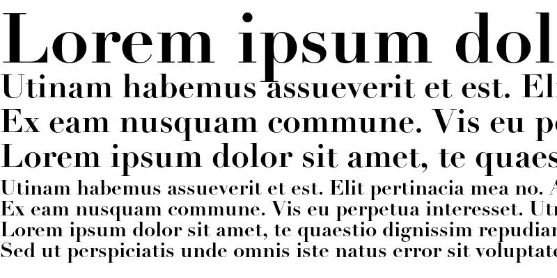 Sample of Linotype Didot Bold OsF