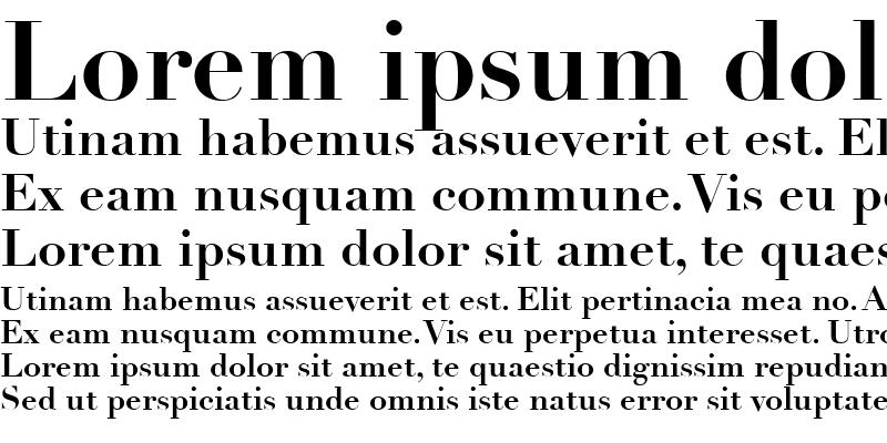 Sample of Linotype Didot Bold