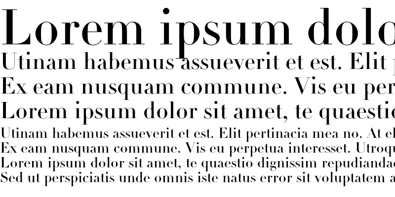 Sample of Linotype Didot Headline OsF