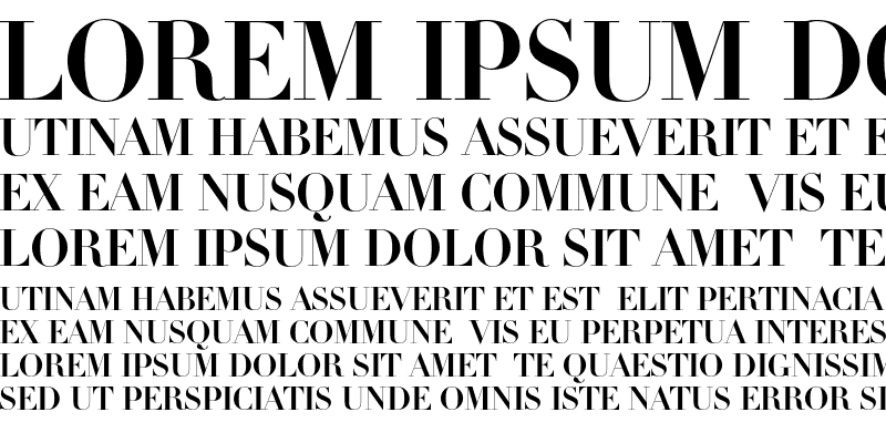 Sample of Linotype Didot Initials