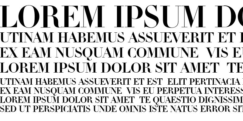 Sample of Linotype Didot Medium